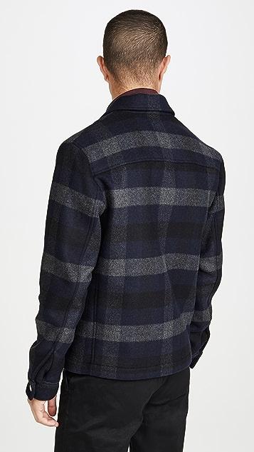 Theory Wyatt Mosaic Plaid Jacket