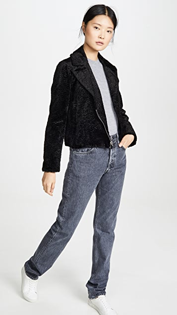 Theory Облегающая байкерская куртка B