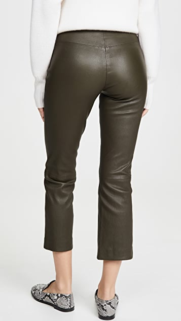 Theory 中长皮裤