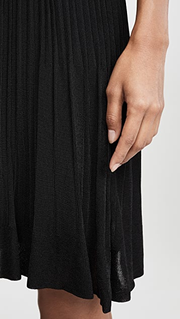 Theory 针织褶皱半身裙