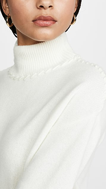 Theory Whipstich Cashmere Turtleneck