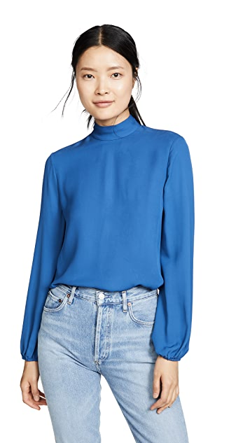 Theory Mock Neck Top