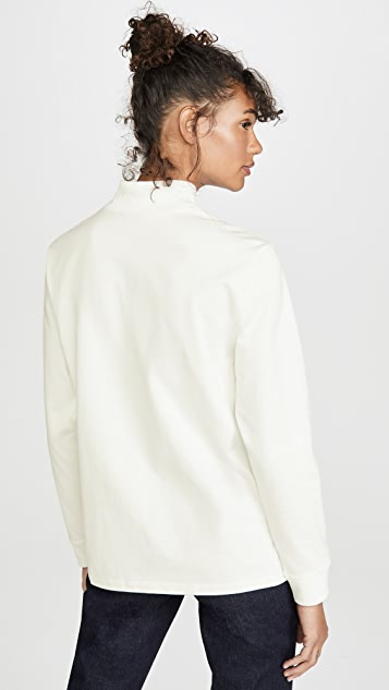 Theory Mock Neck Long Sleeve Top
