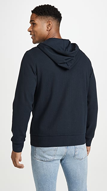 Theory Ridge Stretch Cotton Zip Hoodie
