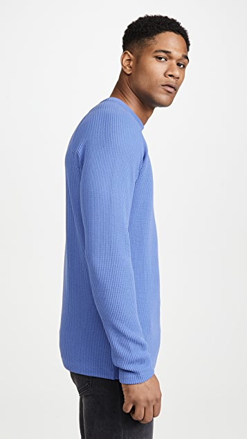 Theory River Stretch Cotton Long Sleeve T-Shirt