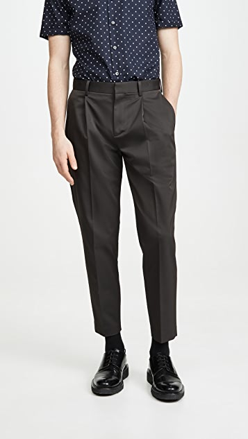 Theory Page Pleated Twill Trousers