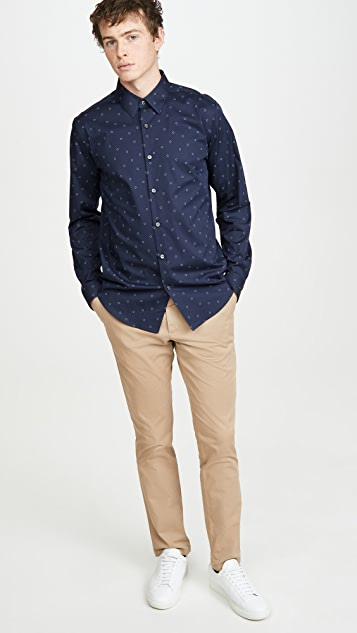 Theory Irving Circuit Print Shirt