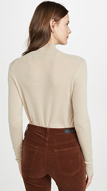 Theory Basic Cashmere Mock Neck Top