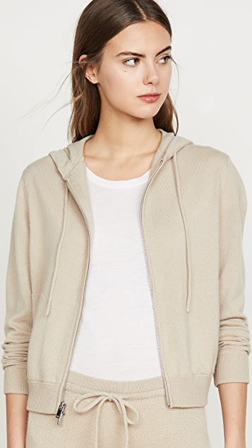 Theory Knits Zip Up Cashmere Hoodie