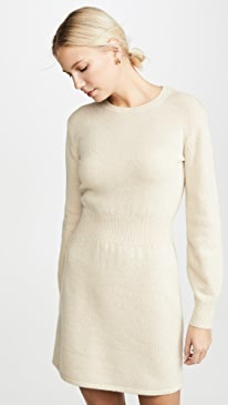 Rib Waist Sweater Dress