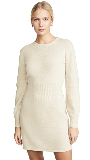Theory Rib Waist Sweater Dress