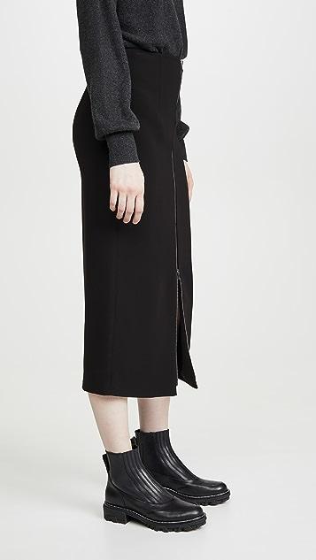 Theory High Waist Zip Skirt