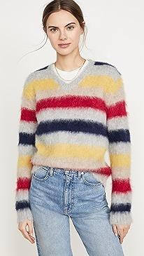 Stripe Alpaca Sweater