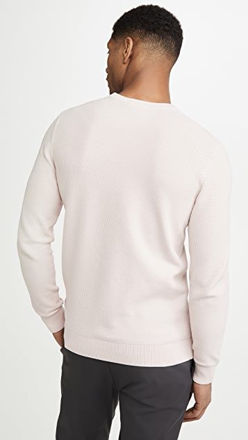 Theory Riland Pique Breach Sweater