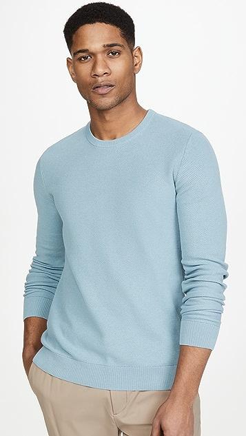 Theory Riland Pique Breach Sweater