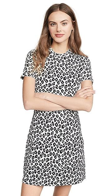 Theory 豹纹 T 恤式连衣裙