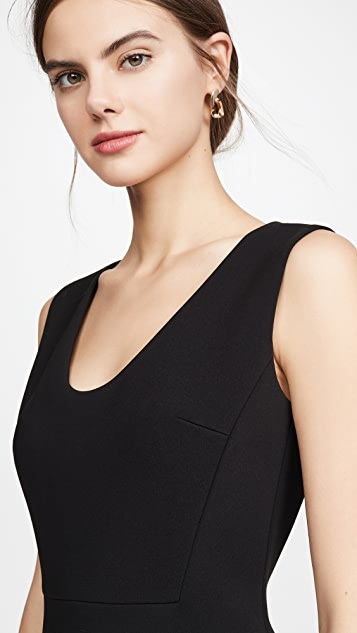 Theory Scoop Flounce Dress