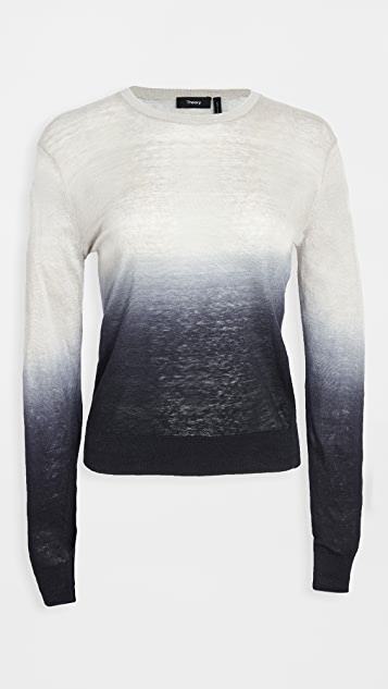 Theory Ombre Crew Neck