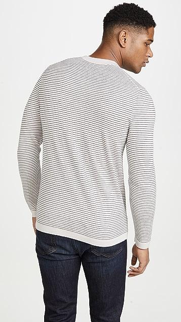 Theory Long Sleeve Merino Wool Stripe Sweater