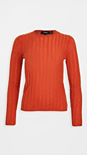Theory Tiny Cable Cashmere Pullover