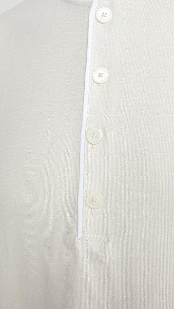 Theory Steg Flex Linen Long Sleeve Henley