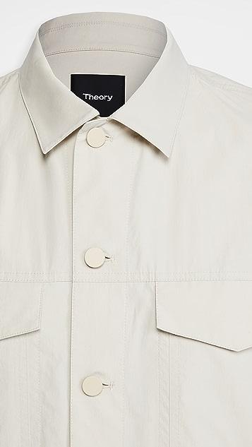 Theory River Cotton Trucker Jacket
