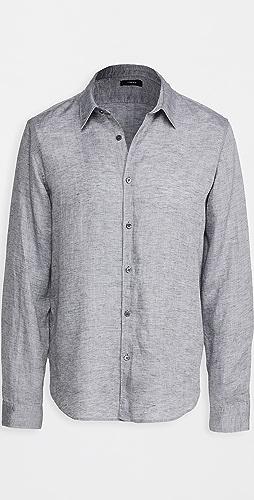 Theory - Irving Summer Linen Long Sleeve Shirt
