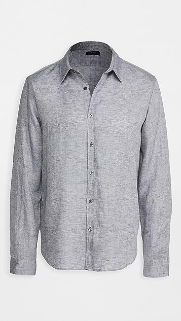 Theory Irving Summer Linen Long Sleeve Shirt