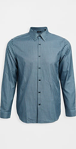 Theory - Irving Faded Check Shirt