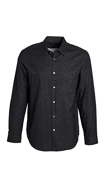 Theory Irving Brushed Flannel Shirt