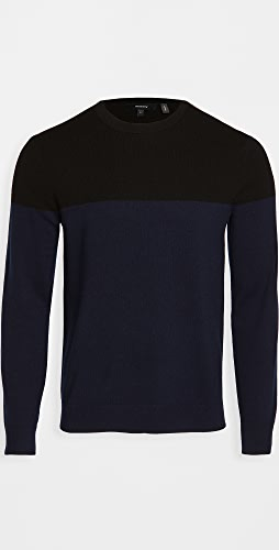 Theory - Hilles Cashmere Colorblocked Sweater