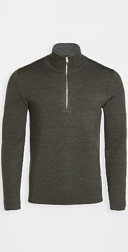 Theory - Merino Wool Quarter Zip Sweater