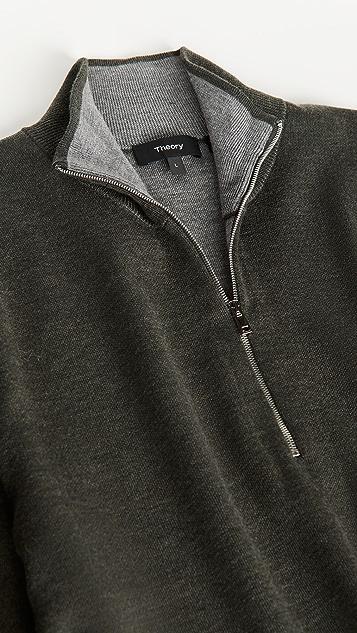 Theory Merino Wool Quarter Zip Sweater