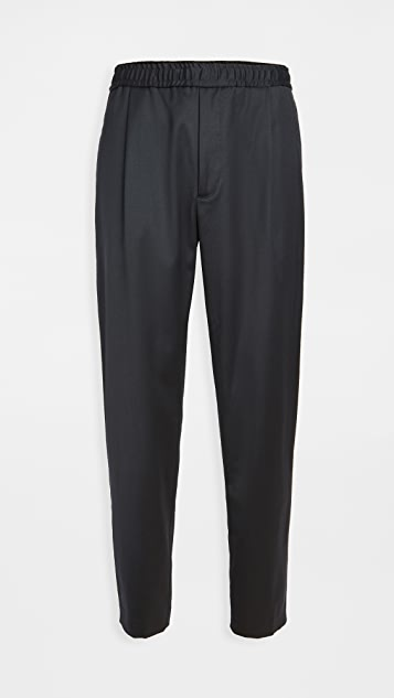 Theory Walter Wool Pleated Trousers