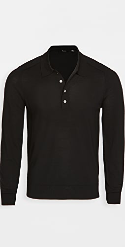 Theory - Long Sleeve Cashmere Polo Shirt