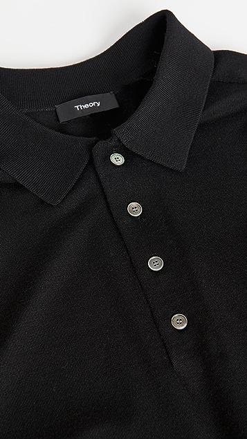 Theory Long Sleeve Cashmere Polo Shirt