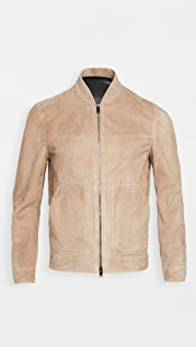 Theory Fletched Suede Leather Jacket