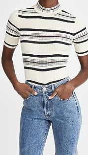 Theory Stripe Rib Pullover