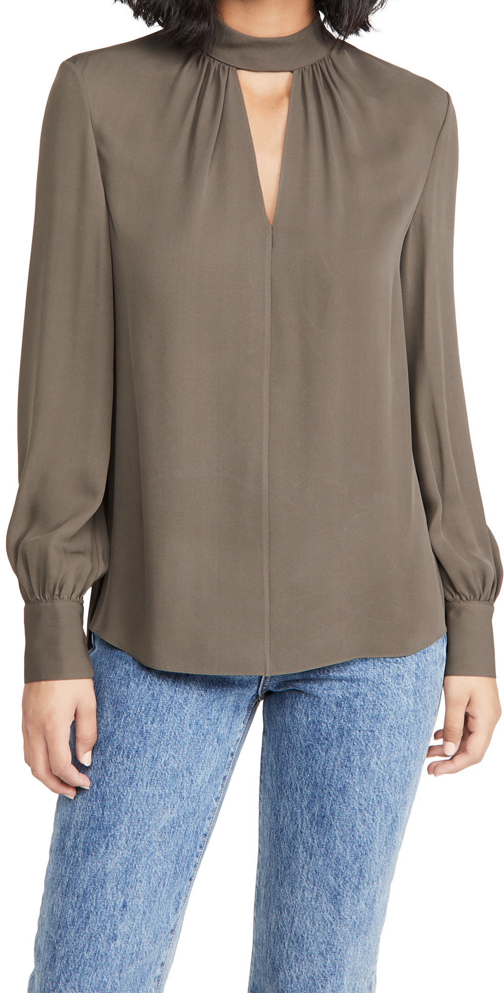 Theory Neck Band Blouse