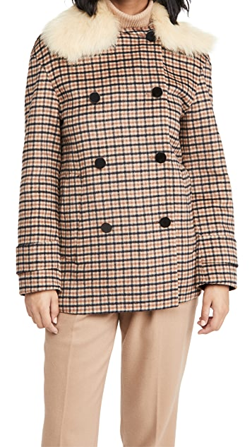 Theory Plaid Peacoat