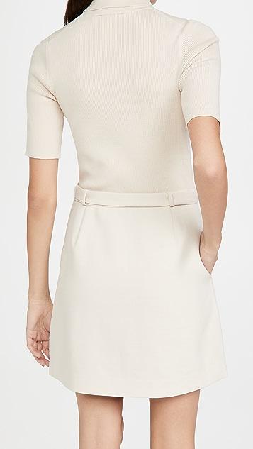 Theory Knit Combo Dress