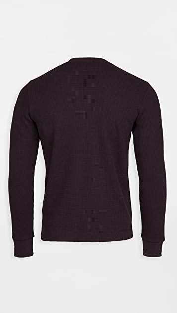 Theory Mattis Pullover in Waffle Knit Cotton