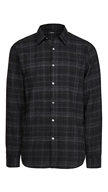 Theory Irving Tonal Flannel Shirt