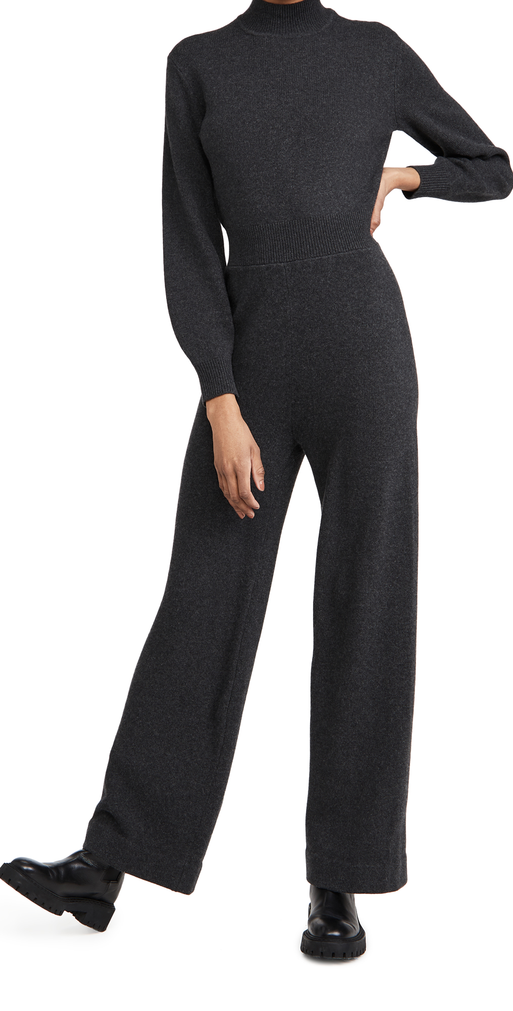 Theory Turtleneck Knit Jumpsuit