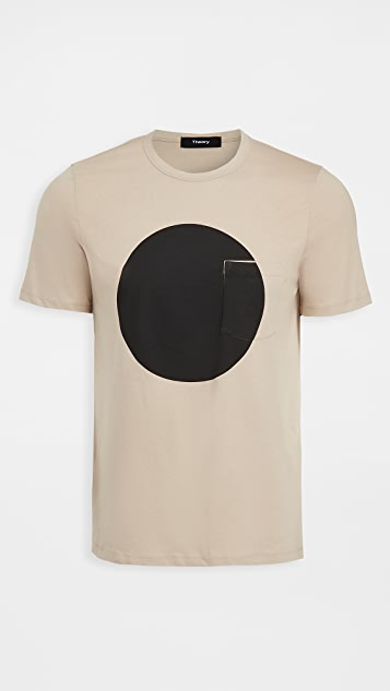 Theory Essential Sphere Geometric Print Tee