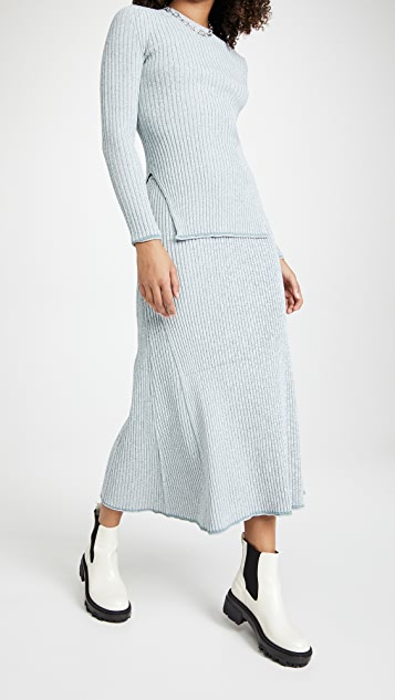 Theory Mouline Rib Pullover