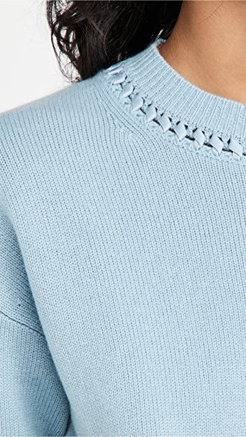 Theory Mixed Trim Cashmere Pullover
