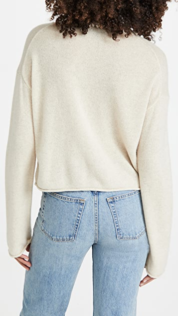 Theory Cashmere Cropped Pullover