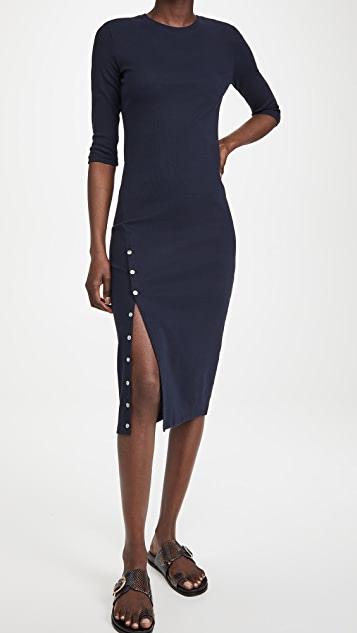 Theory Button Front Dress