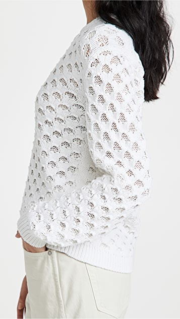 Theory Overlay Mesh Pullover
